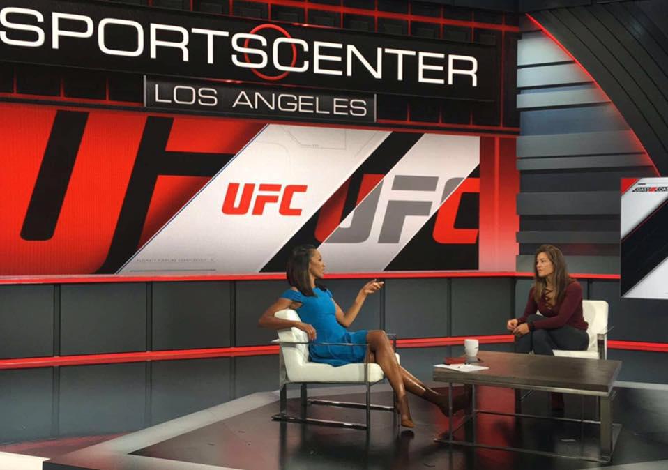 Миша Тейт в передаче «SportsNation» на телеканале ESPN
