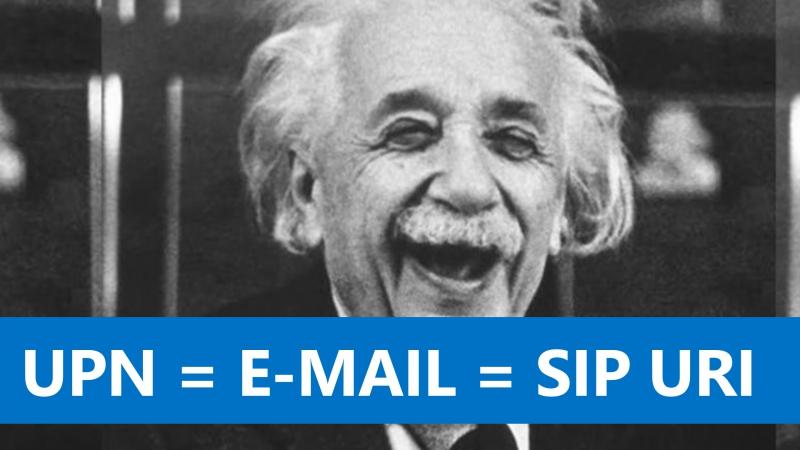 Почему UPN должен совпадать с E-mail и SIP URI?