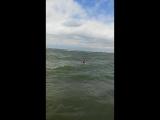 Брызги, визги и восторг! Шторм на Обском море в июле!!!