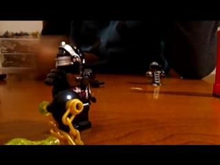 обзор на китайское лего ниндзяго Генерал Криптор с воротами и с роботом Тай-D от фирмы Lepin