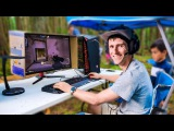 Outdoor Gaming Ultimate Camping Battle Station!