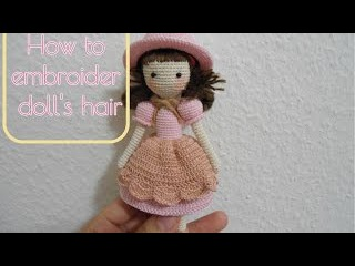 How to embroider doll's hair