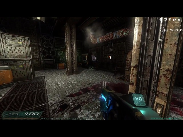 Doom 3 NextGen Extreme (showcasing issues with over done cel shading and oil shader) ( with fixed)