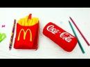 Блокнот с картошкой фри и стрессбол Кока-кола своими руками