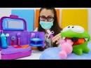 DişçiOyunu izle! 👩⚕️🍬Sevcan fazla şeker yiyen OmNom 'u tedavi ediyor. EğiticiVideo