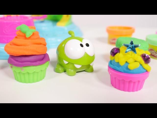 Neue Om Nom Videos: Michelle macht Kuchen aus Knete Play Doh – Wir lernen und kneten