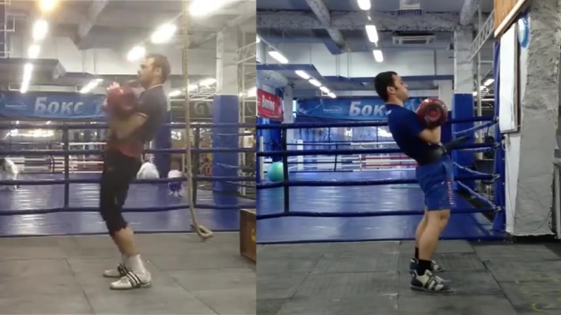 Khvostov VS Benidze (2 min Jerk Sprint) Хвостов и Бенидзе (толчок 2 минуты)