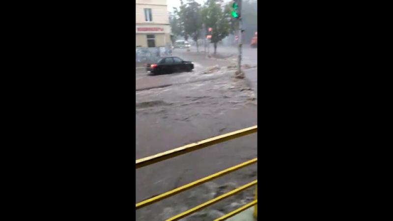Слегка потоп)) Кинотеатр Пебеда, 28 июня