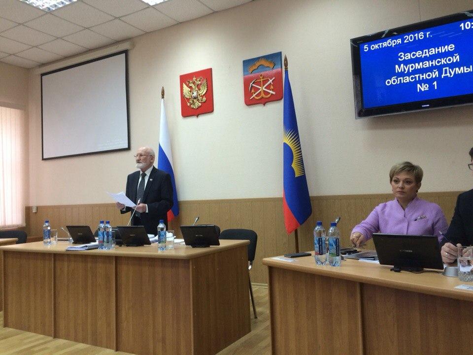 Заседание новой Думы в Мурманске открыл депутат, обещавший застрелиться