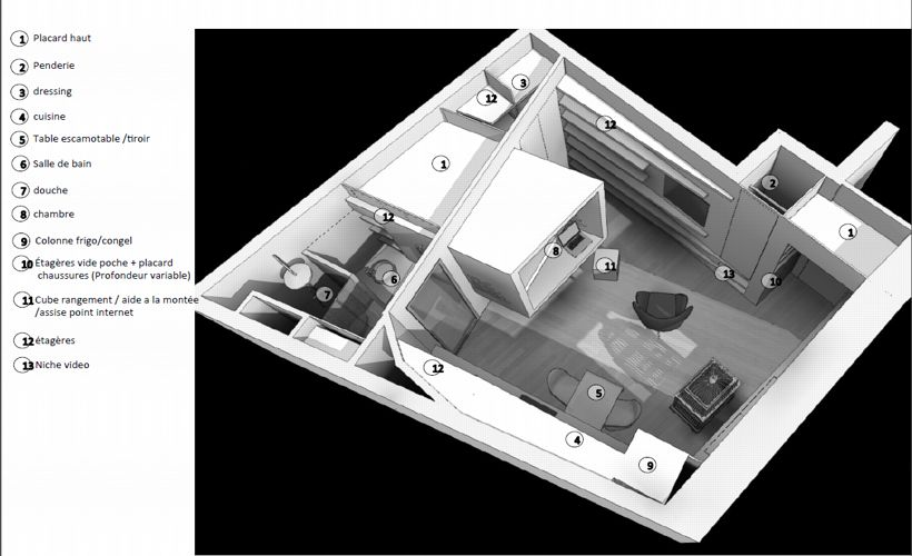 Квартира-студия 28 м во Франции.