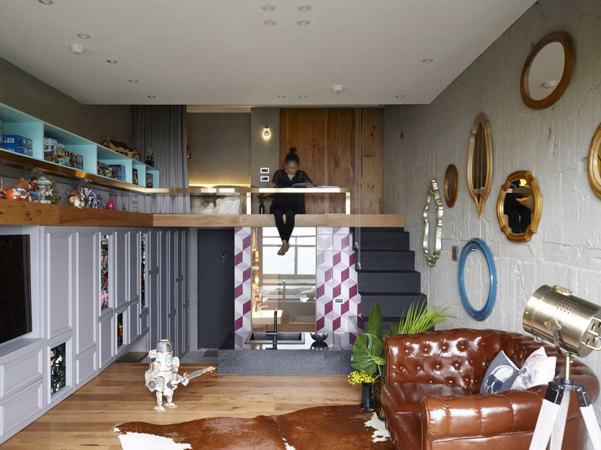 Интерьер квартиры 50 м для коллекционеров игрушек Lego на Тайване.