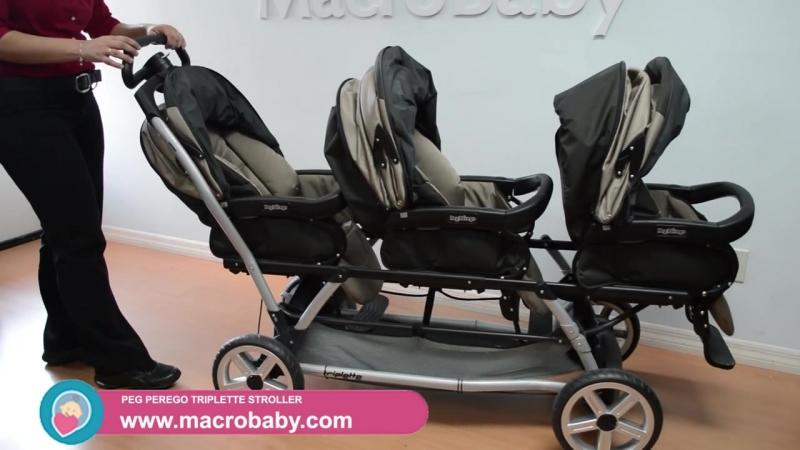 Детальный видео обзор детской коляски для тройни Peg Perego Triplette.