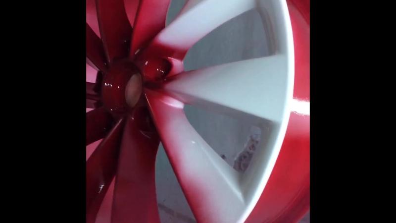 Порошковая покраска дисков в Candy Red в Липецке. 7(4742)71-20-48