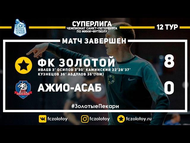 Золотой Ажио Асаб 8 0 Обзор матча 5 03 2017