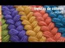 Trenzas puff de colores tejidas a crochet Tejiendo Perú