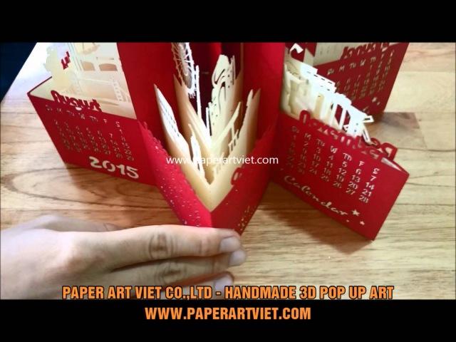 CALENDAR POP UP PAC004 - PAPER ART VIET CO.,LTD