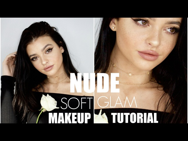 Gold Eye and Nude Lip Soft Glam Makeup Tutorial