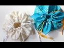 DIY ** Petal drawstring bag tutorial by hand sewing **