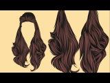 Vector Hair Adobe Illustrator