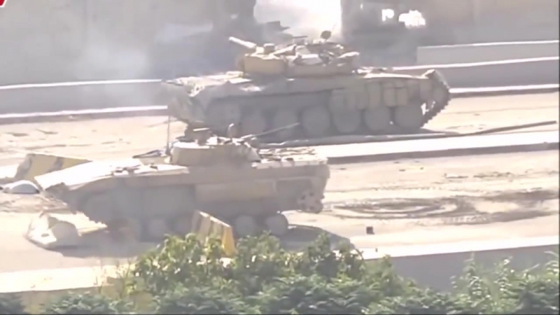 The Recovery Of The Damaged BMP Infantry Fighting Vehicles.