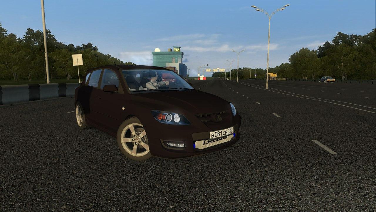 Mazda 3 MPS Turbo для City Car Driving 1.5.0-1.5.2