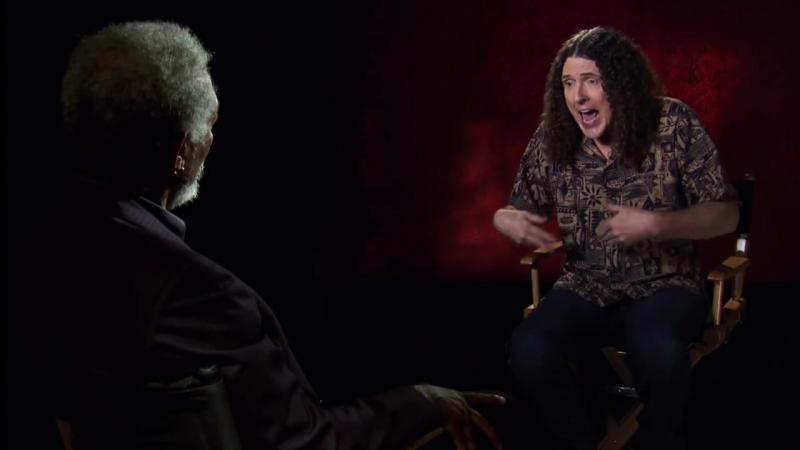 Morgan Freeman Michael Cera go Face to Face with Weird Al Yankovic