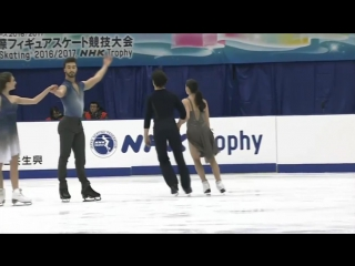 NHK Trophy. Warm up. Group 2. Ice dance. Free dance.