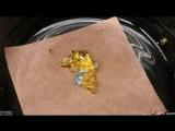 Ничего необычного, просто ртуть поглощает золото.