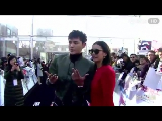 Kris Wu and Nina Dobrev at the xxx Movie Beijing premiere