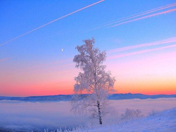 #ТипичныйКрасноярск_фото Вечерний туман над Енисеем. Нравится фото ? С