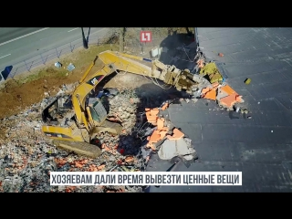 Снос незаконных построек на Крестовском острове