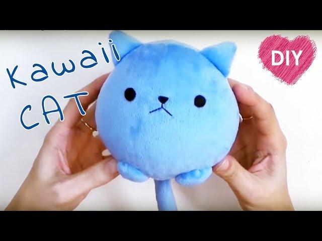 Kawaii plush cat 🐱. Easy tutorial - cute cat!
