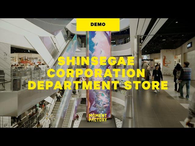 RETAILER SHINSEGAE'S ICONIC MEDIA TOWER [DEMO]