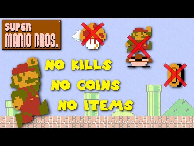 Super Mario Bros. - Pacifist, No Coins, No Items Run