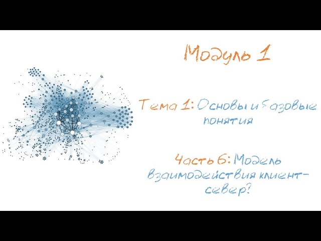 Модель взаимодействия клиент-сервер. Архитектура клиент-сервер.