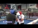 Спарринг Жозе Альдо с мексиканским боксёром-олимпийцем.