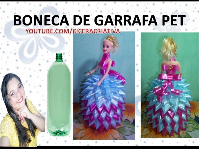 Boneca de garrafa pet - Doll pet bottle - Cicera Criativa