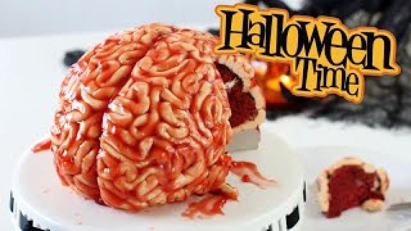 Торт МОЗГИ Красный Бархат! Или как сделать Торт на Хэллоуин. Урок! » Freewka.com - Смотреть онлайн в хорощем качестве