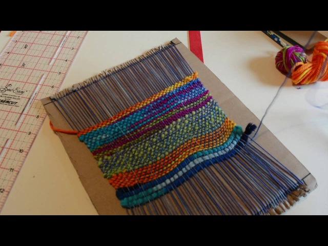 Make a kid's weaving loom from cardboard, part 2