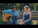 Шикарная блондинка с красивым голосом поет кавер на Воробьёв Сумашедшая