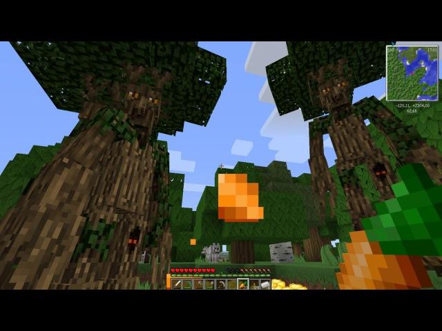 Майнкрафт - Дом на Дереве - Живые деревья