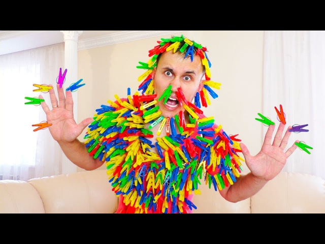 Prank Bad baby and Color Clothespins! Learn color with Baby Finger Family Song Nursery Rhymes
