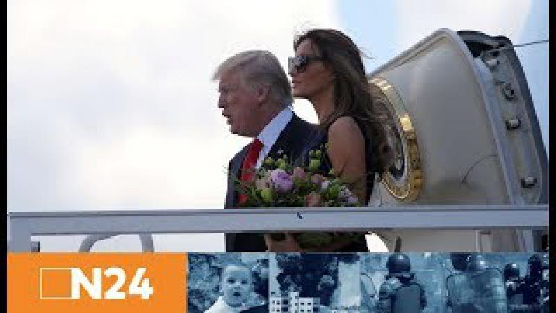N24 Nachrichten - G20-Gipfel: US-Präsident Donald Trump landet in Hamburg