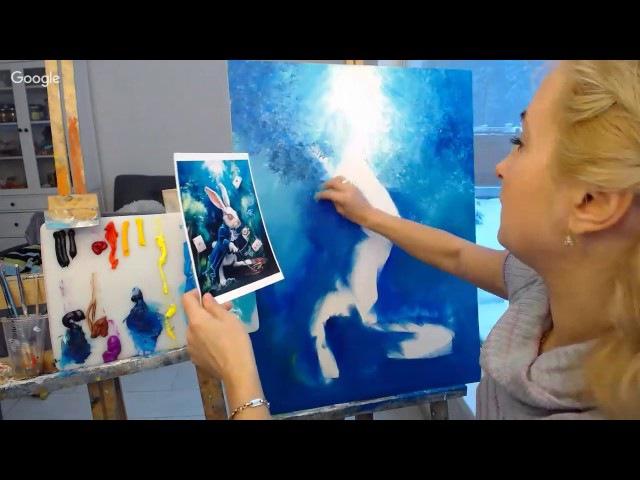 Кролик-художник с Ольгой Базановой