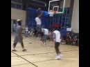 LeBron James Jr. throwing alley-oops to Hassan Whiteside