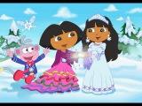 Dora L'exploratrice  Sauve  La Princesse des Neiges Animation Complet 1 heures