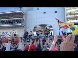 Подиум победителей гонки Формулы 1 Гимн Победителя Вручение Кубков.