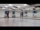 Brazilian zouk. Demo class 1. Nadin and Yura