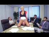 Office boss Nina Elle sits on Seans face to shut him up