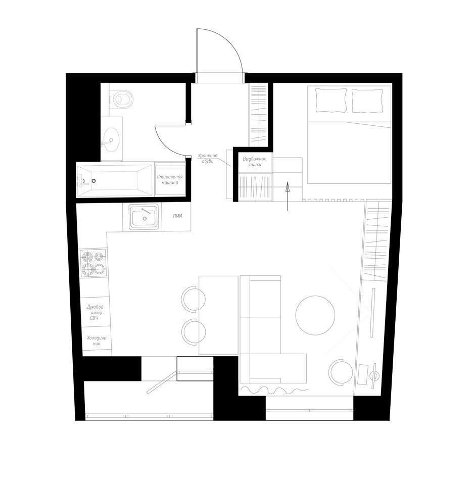 Концепт квартиры 37 м.